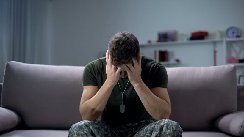 Veteran suffering from PTSD and alcohol abuse