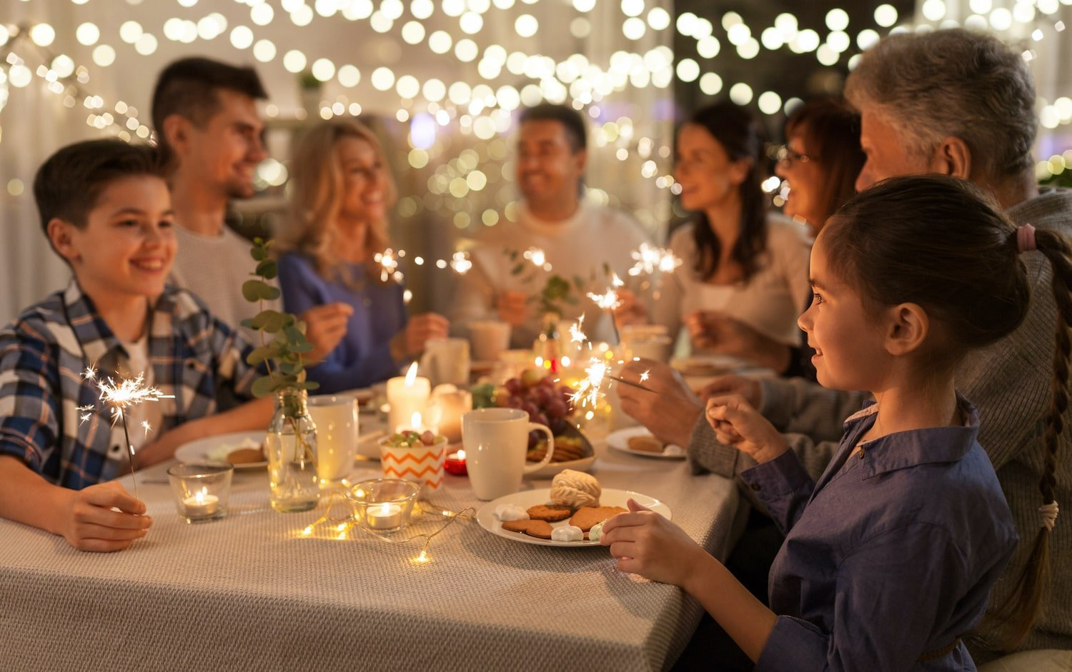 Family dinner during the holidays