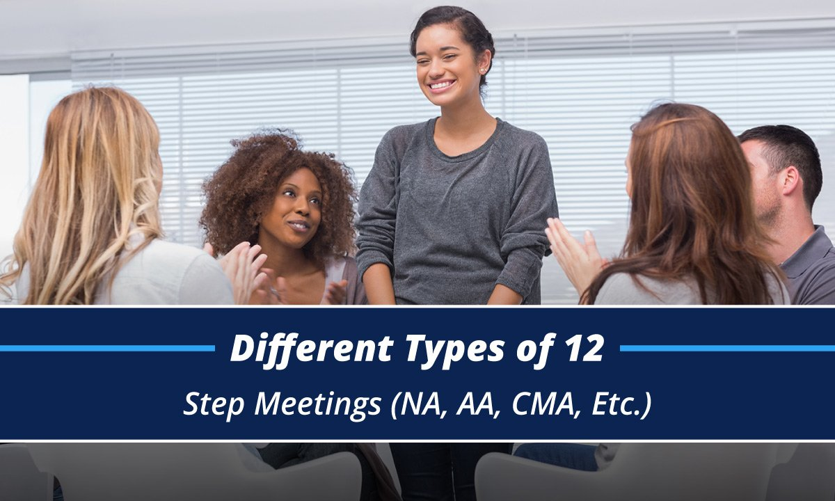 happy people in a 12 step aa meeting discussing